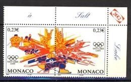 Monaco Jeux Olympique Salt Lake City 2002 Hockey, Ski, Patinage Bobsleigh.... - Winter 2002: Salt Lake City