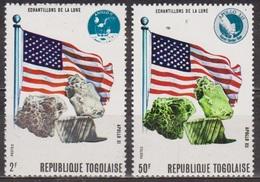 Apollo XI - XII  - TOGO - Echantillons De Roches Lunaires - Drapeau Américain - N° 674-677 ** - 1970 - Togo (1960-...)