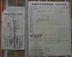 Lot De 2 21 BRAZEY EN PLAINE Chocolaterie LANVIN DIJON 55 Mauvages - Alimentaire