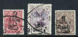 Iran Persia 1904, Scott 400-402, Used - Iran