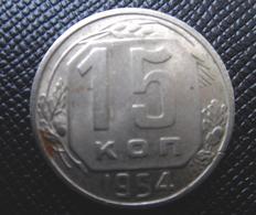 RUSSIA 1954 RUSSIAN Soviet USSR  COIN 15 Kopeks - Kopeek  STALIN TIME - Russie