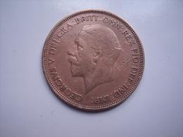 GRANDE BRETAGNE =( Fauté = Uniface ) 1 MONNAIE DE 1 PENNY  FAUTE - 1902-1971 : Monnaies Post-Victoriennes