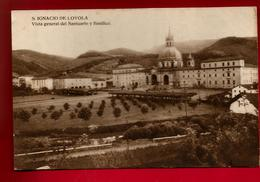 Jolie CP Ancienne Espagne San Ignacio De Loyola Vista General Del Santuario Y Basilica - Ed Irazu - Espagne