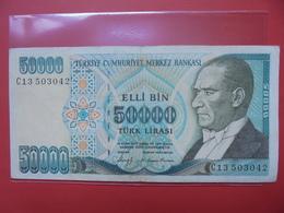 TURQUIE 50.000 LIRA 1970(88) CIRCULER - Turquie