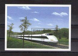 Guinée. Bloc Feuillet. Train. Shinkansen - Guinée (1958-...)