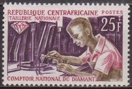 Diamants - CENTRAFRIQUE - Taillerie Nationale De Pierres Précieuses - N° 64 * - 1966 - Centraal-Afrikaanse Republiek