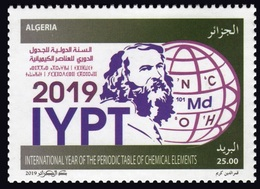 ALGERIE ALGERIA 2019 IYPT JOINT ISSUE COMMON DESIGN UNESCO INTERNATIONAL YEAR PERIODIC TABLE CHEMICAL ELEMENTS MNH - Gemeinschaftsausgaben