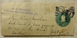 USA - De F.J. MOUSSET  - MAUCH CHUNG  - Pennsylvanie -   Léon MATHIEU - LIMONADES - IXELLES - 1908 - Cover - United States