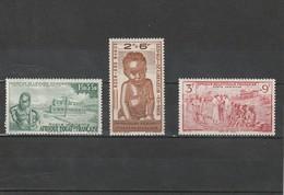 A.E.F  Neuf *  1942  Poste Aérienne N° 10/12  Protection De L'enfance Indigène - A.E.F. (1936-1958)