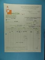 Lampe Mazda Belge Manufacture Belge De Lampes électriques Bruxelles /16/ - Électricité & Gaz
