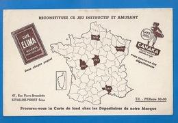 BUVARD -  CAFÉ ÉLIMA -  CANAKA - JEU DES DÉPARTEMENTS - LEVALLOIS-PERRET, 47 RUE BROSSOLETTE - Coffee & Tea