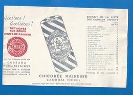 BUVARD -  CHICORÉE MAIRESSE - 59 - CAMBRAI - LISTE DES CADEAUX - Coffee & Tea
