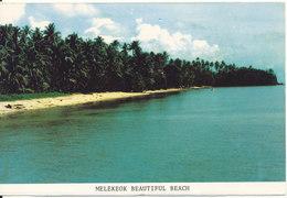 Palau Postcard Sent To Denmark 5-8-1988 (Melekeok Beautifull Beach) - Palau