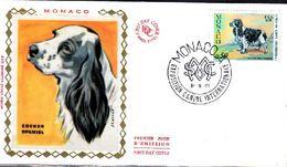 MONACO - FDC 1971 - YT N°862 - COCKER SPANIEL - Honden