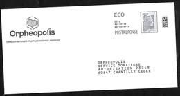 Postréponse écopli . ORPHEOPOLIS .  183372 - Entiers Postaux
