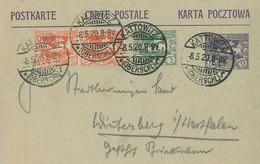 Kattowitz Oberschlesien 8.5.1920 Ganzsache - 1919-1939 République