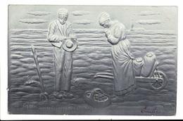 CPA - Carte Postale En Relief - Belgique L'Angélus De J.F. Millet-1909 VM1712 - Peintures & Tableaux