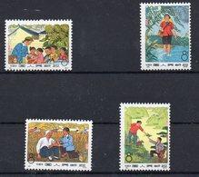 Chine China Cina 1974 Yvert 1927/1930 ** Medecins Ruraux - Barefoot Doctors, Mnh - 1949 - ... République Populaire