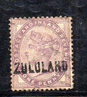 XP4602 - ZULULAND 1888 , Yvert N. 2  Usato (2380A) . - Sud Africa (...-1961)