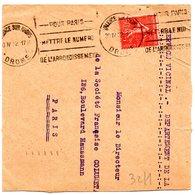 DROME - Dépt N° 26 = VALENCE Sur RHONE 1932 =  Flamme KRAG   ' POUR PARIS / METTRE NUMERO ARRONDISSEMENT ' - Marcophilie (Lettres)