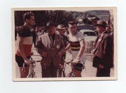 CYCLISME TOUR  DE  FRANCE 1 PHOTO ORIGINALE COULEUR  CIRCUIT DE L'AULNE 1954  BOBET  VAN STEENBERGEN 7 X 10 - Cycling