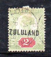 XP4604 - ZULULAND 1888 , Yvert N. 3  Usato (2380A) . - Sud Africa (...-1961)