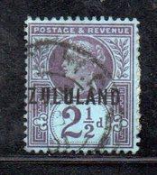 XP4606 - ZULULAND 1888 , Yvert N. 4  Usato (2380A) . - Sud Africa (...-1961)