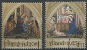 Aland 2013 N°384/385 Oblitérés Noël - Aland