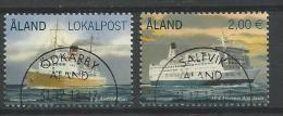 Aland 2013 N°370 Et 381 Oblitérés Ferrys - Aland