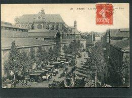 CPA - PARIS - Les Halles Centrales, Animé - Attelages - Arrondissement: 01