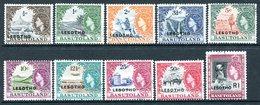 Lesotho 1966 Stamps Of Basutoland Overprinted - 1st Wmk. - Set Used (SG 110A-120A) - Lesotho (1966-...)