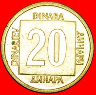 # LAST INFLATION (1988-1989): YUGOSLAVIA ★ 20 DINAR 1988 MINT LUSTER! LOW START ★ NO RESERVE! - Yougoslavie