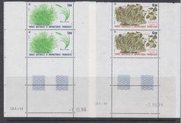 TAAF 1987 Plants 2v (pair, Corner, Printing Date) ** Mnh (TA232A) - Ongebruikt