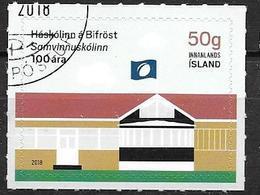 Islande 2018 Timbre Oblitéré Université De Bifröst - 1944-... Republik