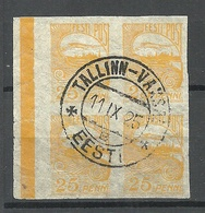 ESTLAND ESTONIA 1924 Michel 53 In 4-Block O TALLINN-VAKSAL - Estland