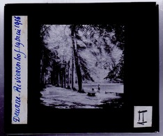 Oude Glasplaat (8,5 X 10cm). DEURNE.  Rivierenhof 1936 - Glasplaten