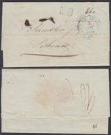 """France 1834 - Lettre Date Paris 03/11/1834 """" Bureau Central Paris """" Vers Lisbonne """" P.P."""" Taxe Manus 840 (7G38380)DC2593 - Marcophilie (Lettres)"""
