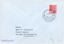 1971 Ortswerbestempel Rheineck Auf Brief Nach Silvaplana - Marcofilia