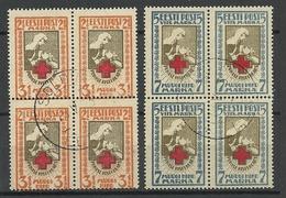 Estland Estonia 1922 Michel  29 - 30 A As 4-Blocks O SOLDINO - Estland