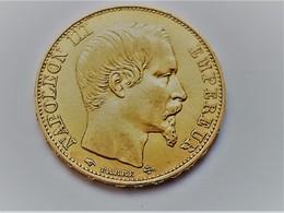 SUPERBE 20 FRANCS OR Napoléon 3 1855 A Tête Nue, 900 ‰ , 6,45 Gr , Diamètre 21mm - France
