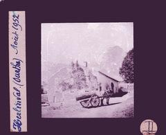 Oude Glasplaat (8,5 X 10cm). HERLINVAL. (Ourthe)  1952 - Plaques De Verre