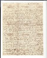 ANTOINE MONTFORT 1802 - 1884 Peintre , Lettre Autographe 3 P. Rome ( Linéaire ) 1831 à Mme Goupil Paris Courrier Purifié - Autographes