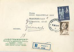 Belgrad Beograd R-Brief Familie - 1945-1992 Sozialistische Föderative Republik Jugoslawien