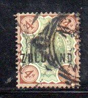 XP4609 - ZULULAND 1888 , Yvert N. 6  Usato (2380A) . - Sud Africa (...-1961)