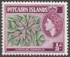 Pitcairn Islands. 1957-63 QEII. ½d MH. SG 18 - Stamps