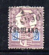 XP4610 - ZULULAND 1888 , Yvert N. 7  Usato (2380A) . - Zululand (1888-1902)