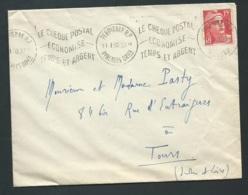 Yvert N° 813 Oblitéré Permignan Rp - Le Chèque Postal/economise/temps Et Argent - 01/1950 Dreyfuss PER317 -qaa 5711 - 1945-54 Marianne De Gandon