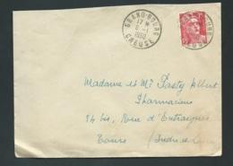 "Yvert N° 813 Oblitéré CAD "" Grand-bourg / Creuse En Janvier 1950 -qaa 5712 - 1945-54 Marianne De Gandon"