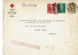 Lettre De La Croix Rouge Japonaise-TOKIO-avec, Au Verseau Sceau De Fermeture Et Cahet D'arrivée à PARIS - - Croix-Rouge