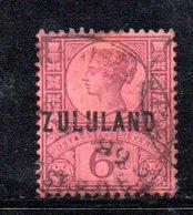 XP4612 - ZULULAND 1888 , Yvert N. 8  Usato (2380A) . - Zululand (1888-1902)